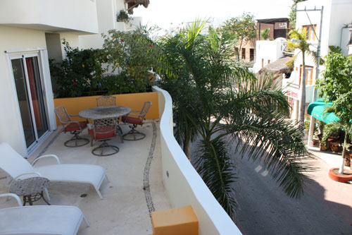 condo italy in playa del carme out side deck first level