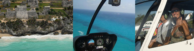 Helicopter flights over playa del carmen and the riviera maya
