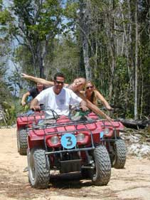 atv's to get to the jungle park in playa del carmen