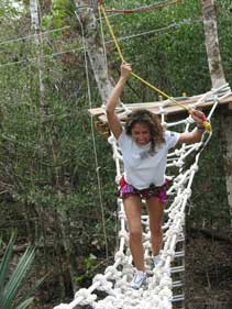 one of many activities at the jungle park in playa