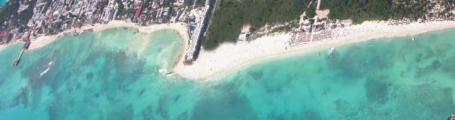 playadelcarmen from the sky