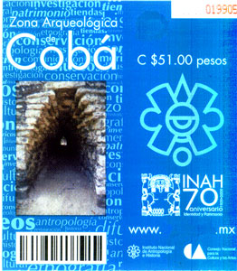 ticket for Coba Ruins