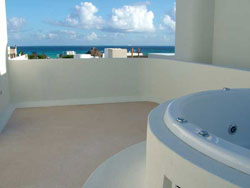 Great view from roof top of Condo Ali playa del carmen rental