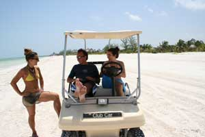 transportation in holbox island all by golf carts