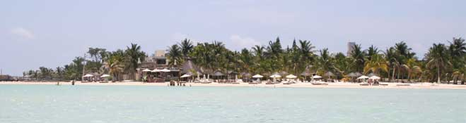 Isla Mujeres north beach were hotel na balam is located