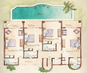 lower floor plan maya jardin house